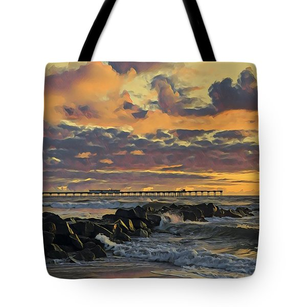 Ob Sunset No. 3 Tote Bag