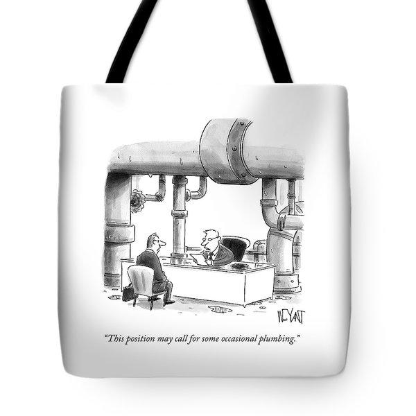 Occasional Plumbing Tote Bag