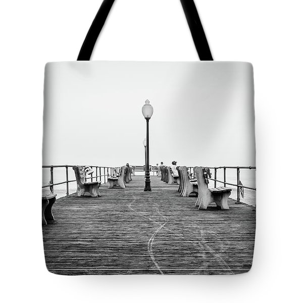 Tote Bag featuring the photograph Ocean Grove Pier 1 by Steve Stanger