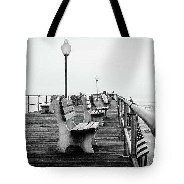 Tote Bag featuring the photograph Ocean Grove Pier 2 by Steve Stanger