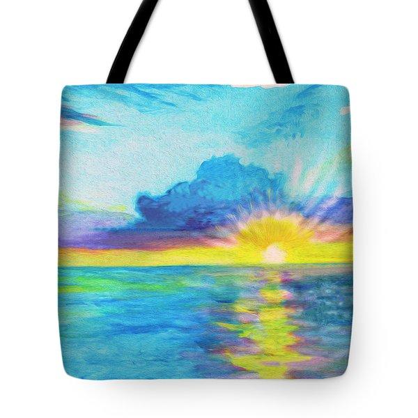 Ocean In The Morning Tote Bag