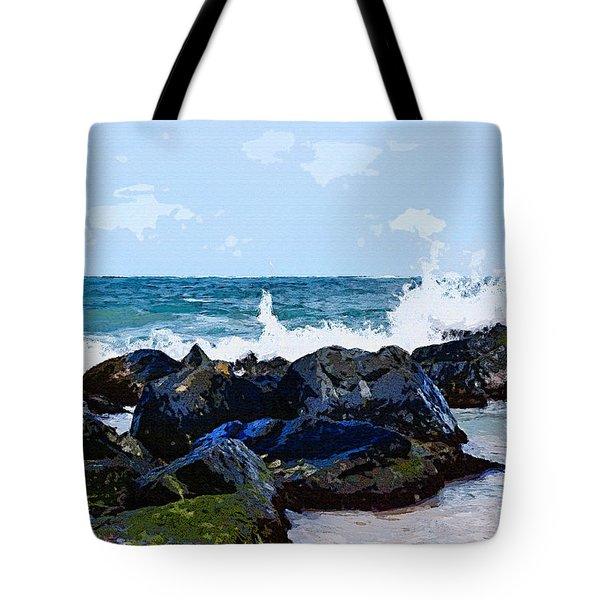 Ocean Meets The Coast Tote Bag