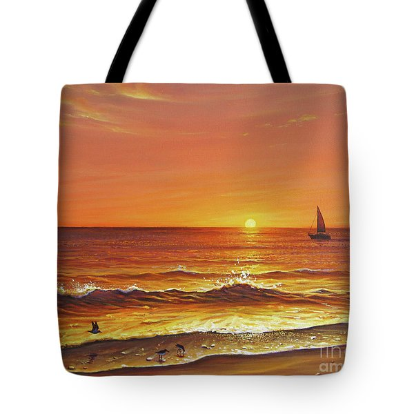 Ocean Of Fire Tote Bag