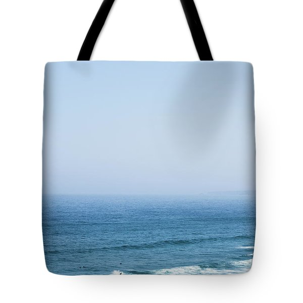 Tote Bag featuring the photograph Ocean View In Summer by Anne Leven