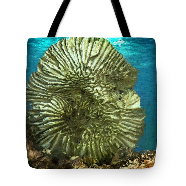 Ocean With Its Life Underground Tote Bag