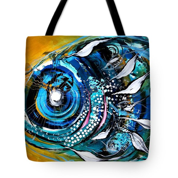 Ochre Fish Four Tote Bag