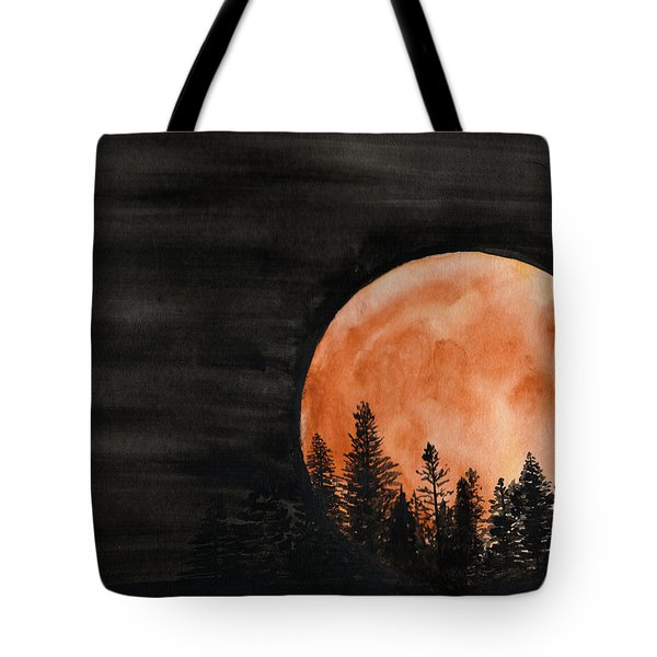 Tote Bag featuring the painting October 2018 by Betsy Hackett