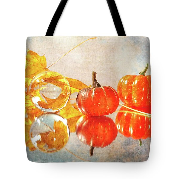 Tote Bag featuring the photograph October Reflections by Randi Grace Nilsberg