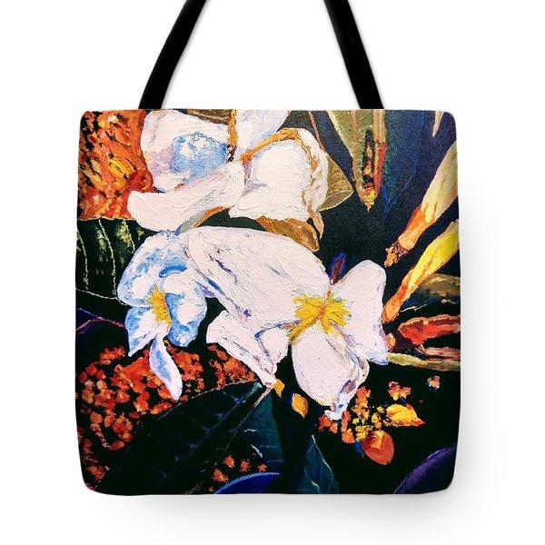 Odd Shape Flowers Tote Bag