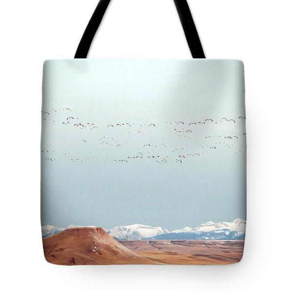 O'er The Mountains Tote Bag