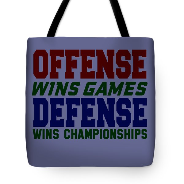 Offence Defense Tote Bag