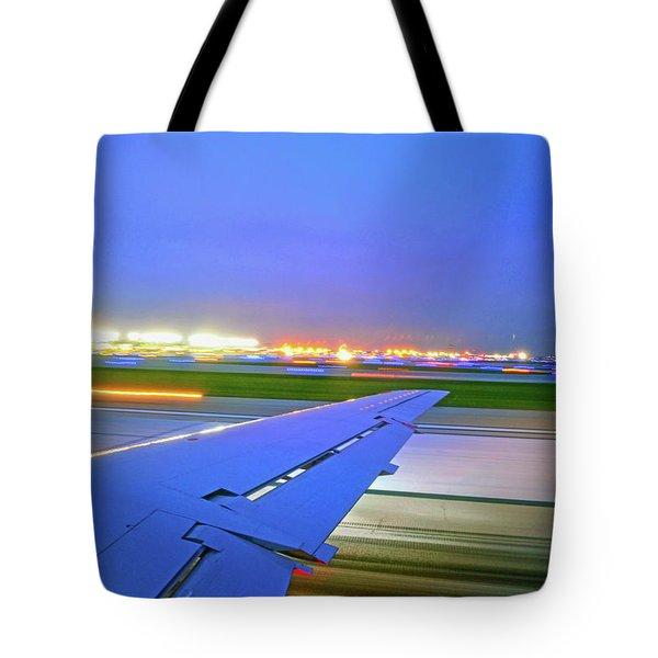 O'hare Night Takeoff Tote Bag