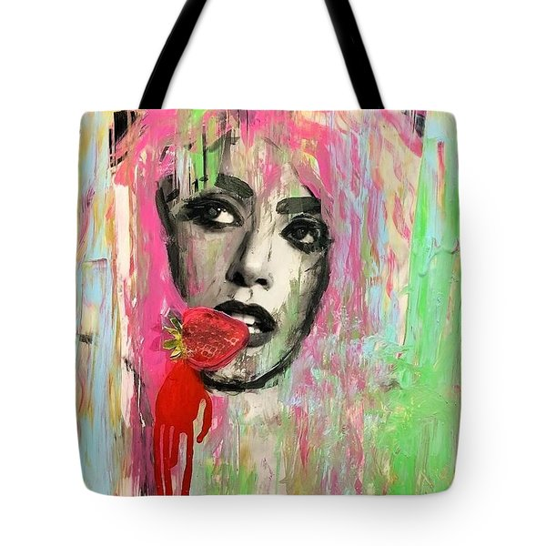 Tote Bag featuring the mixed media Ohh La by Jayime Jean