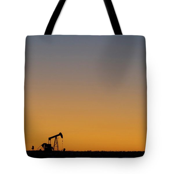 Tote Bag featuring the photograph Oil Pump After Sunset 02 by Rob Graham