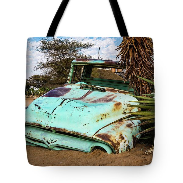 Old And Abandoned Car 2 In Solitaire, Namibia Tote Bag
