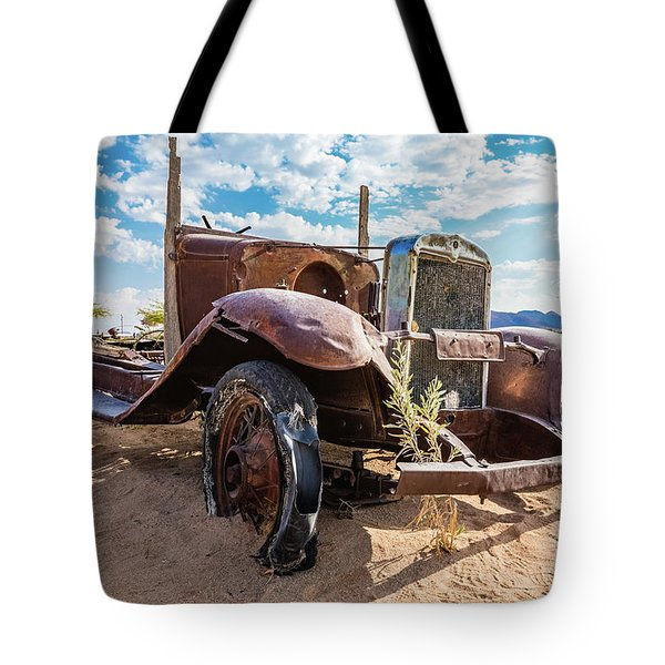 Old And Abandoned Car 3 In Solitaire, Namibia Tote Bag