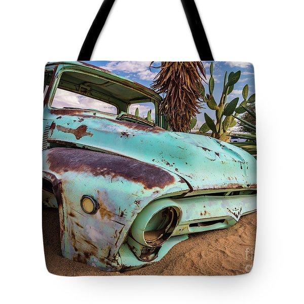 Old And Abandoned Car 7 In Solitaire, Namibia Tote Bag
