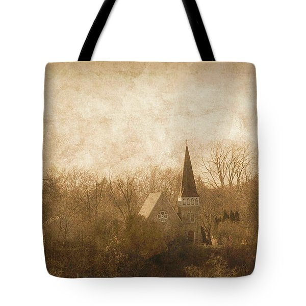 Old Church On A Hill  Tote Bag