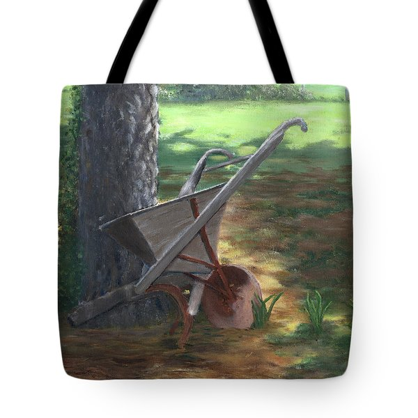 Old Farm Seeder, Louisiana Tote Bag