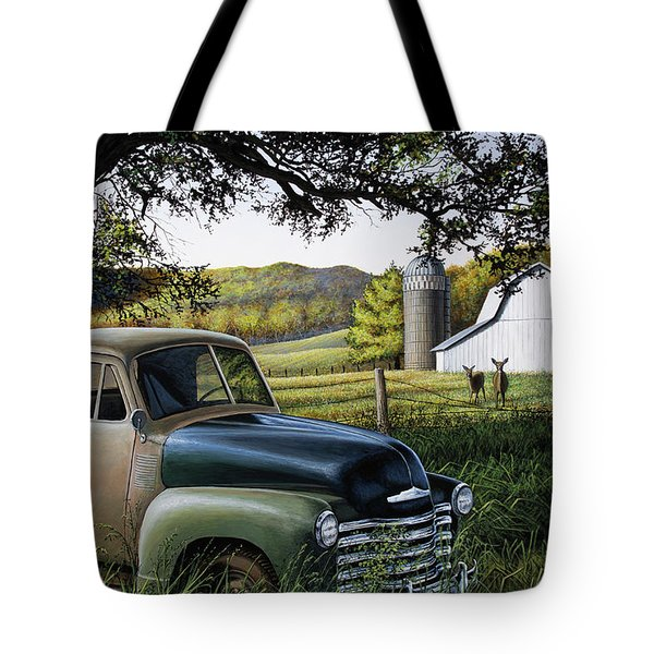 Old Farm Truck Tote Bag