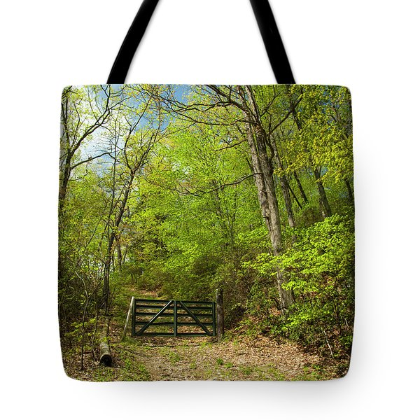 Old Gate At The Preserve Tote Bag
