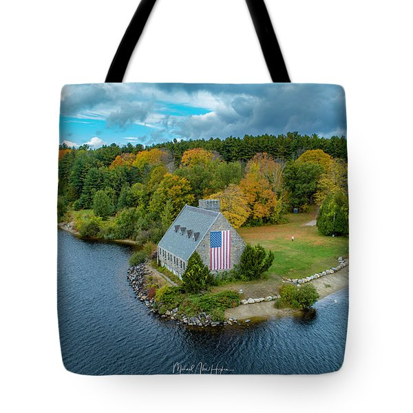 Tote Bag featuring the photograph Old Glory by Michael Hughes