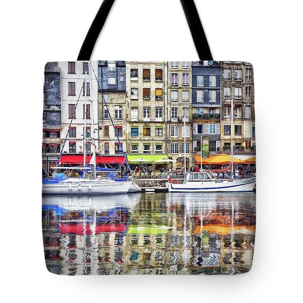 Old Harbor Of Honfleur Tote Bag