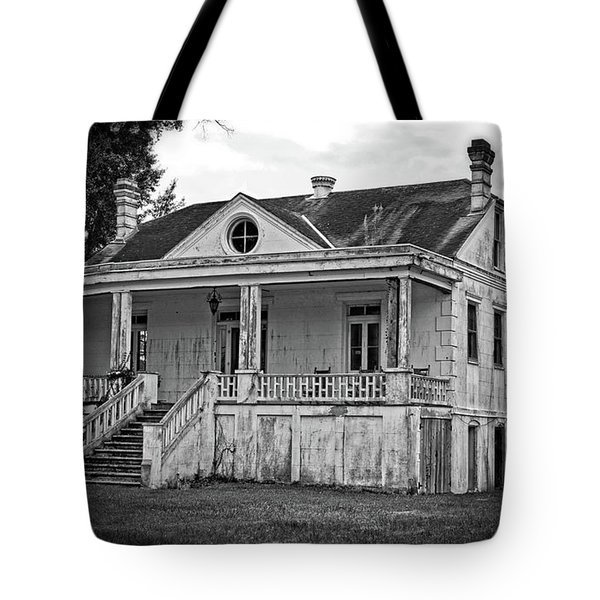 Old House Black And White Tote Bag