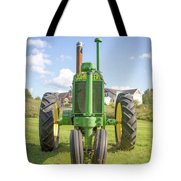 Old John Deere Vintage Tractor Stowe Vermont Tote Bag
