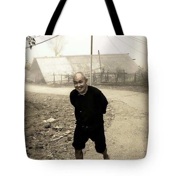 Old Man On Sapa Road, Vietnam Tote Bag
