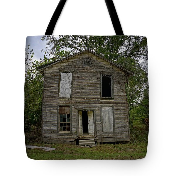 Old Masonic Lodge In Ruins Tote Bag