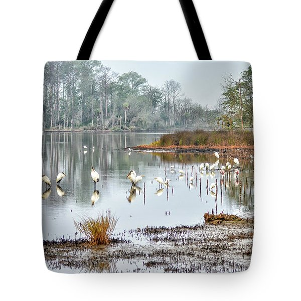 Old Rice Pond Tote Bag