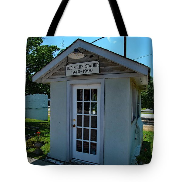 Tote Bag featuring the photograph Old Ridgeway Police Station 21 Color by Joseph C Hinson Photography