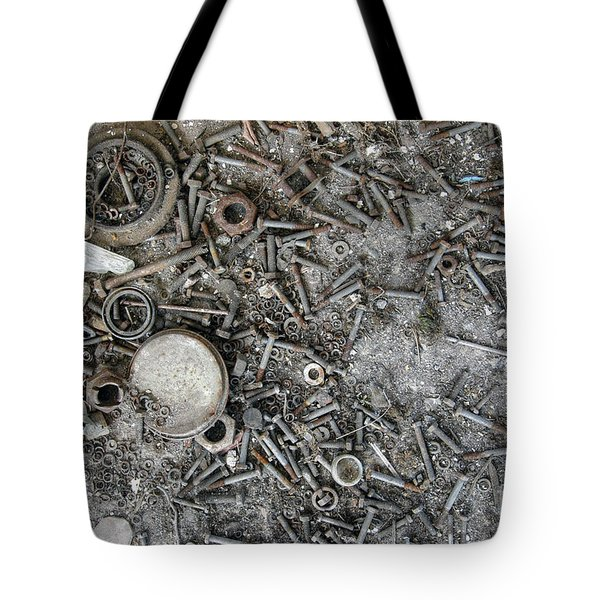 Old Rusty Bolts, Nuts And Washers Tote Bag