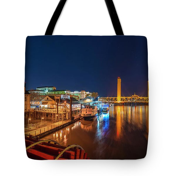 Old Sacramento Panorama Tote Bag