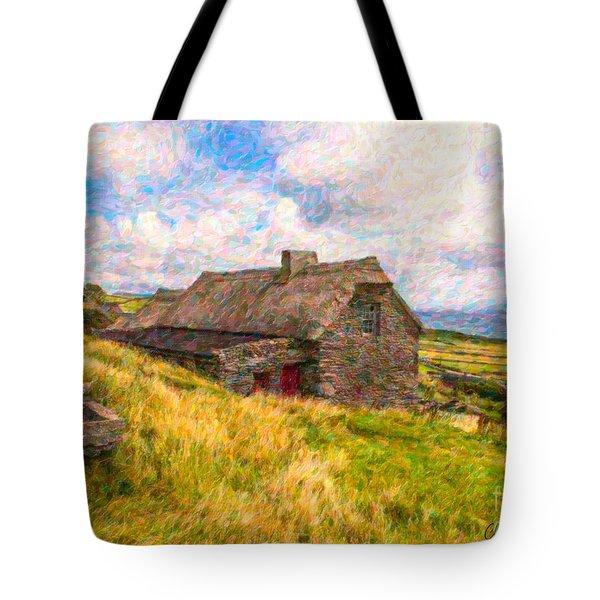 Old Scottish Farmhouse Tote Bag