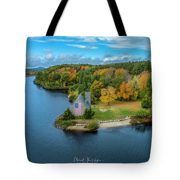 Tote Bag featuring the photograph Old Stone Church by Michael Hughes