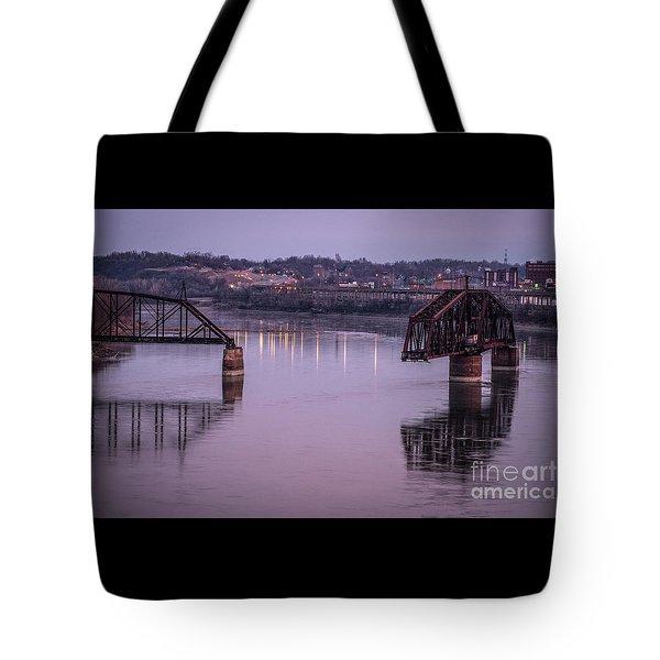 Old Swing Bridge Tote Bag