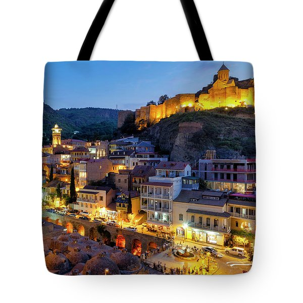 Tote Bag featuring the photograph Old Tbilisi by Fabrizio Troiani