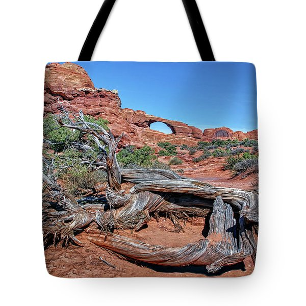 Old Tree And Skyline Arch Tote Bag