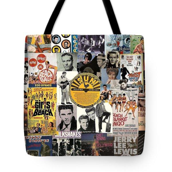 Oldies Pop And Rock Collage 1 Tote Bag