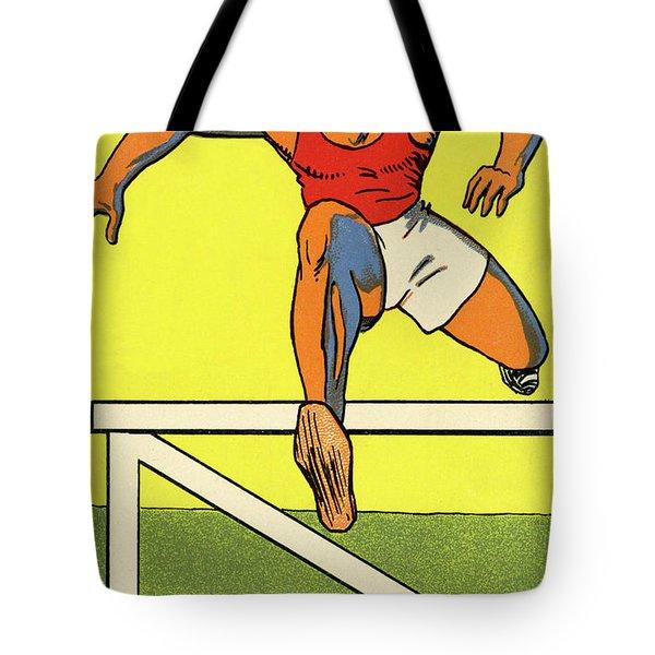 Olympics 1924 Paris France Hurdle Race Tote Bag