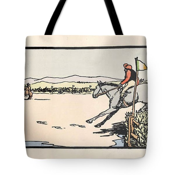 Tote Bag featuring the painting Omey Races, Galway by Val Byrne