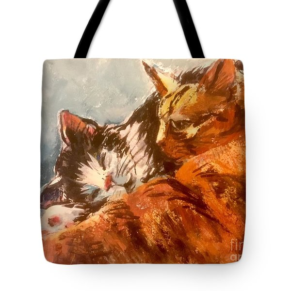 On A Blanket Of Blue Tote Bag