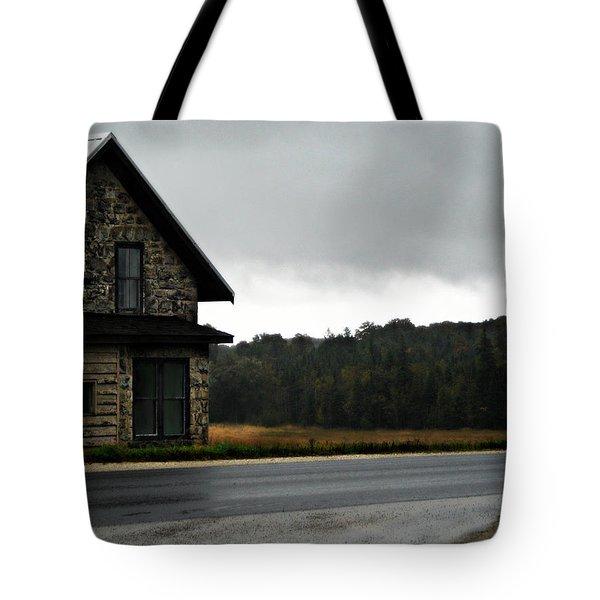 On A Cloudy Corner Tote Bag