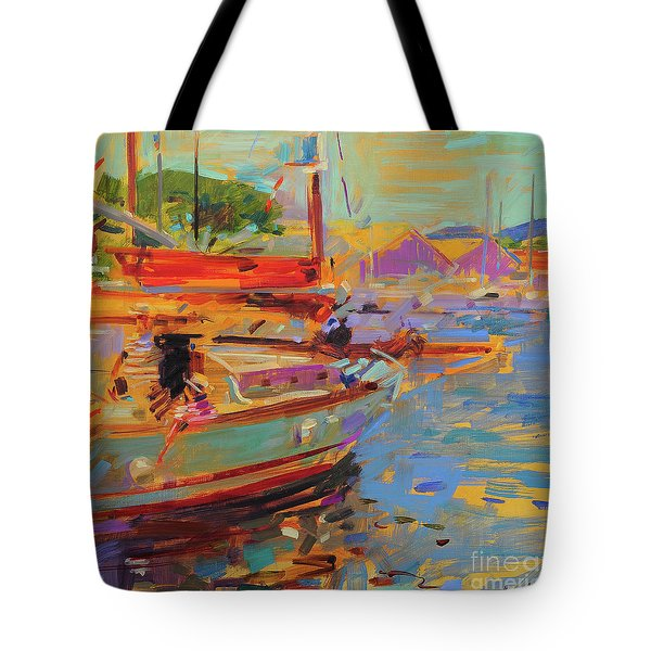 On Deck, Saint-tropez Tote Bag
