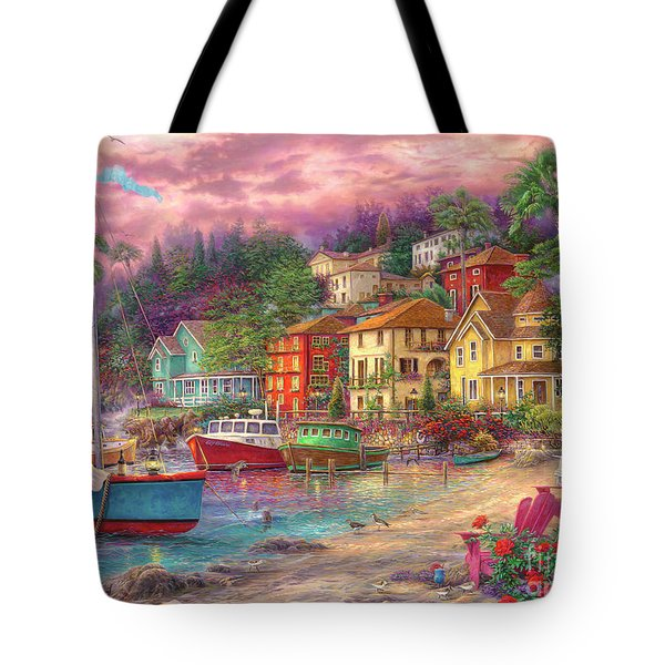 On Golden Shores Tote Bag
