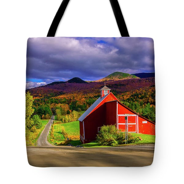 On The Backroads Of Stowe. Tote Bag