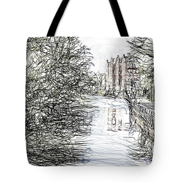 On The Banks Of The River Promenade  Tote Bag