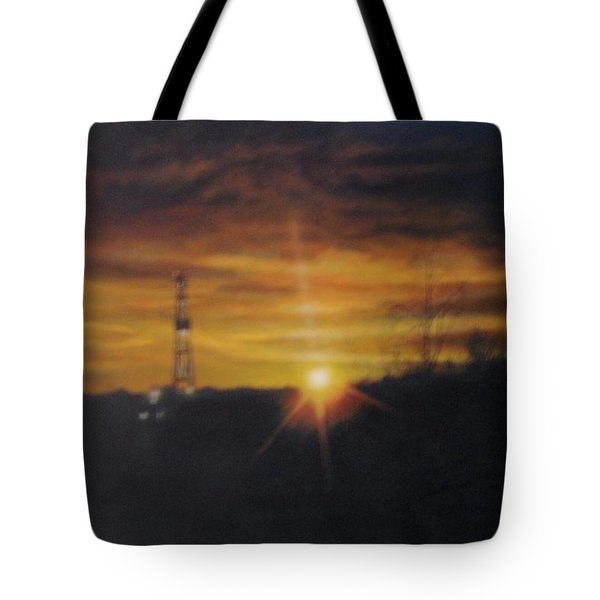 Tote Bag featuring the painting On The Horizon by Tammy Taylor